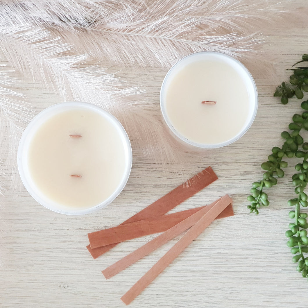 Wood Wick Candle | White
