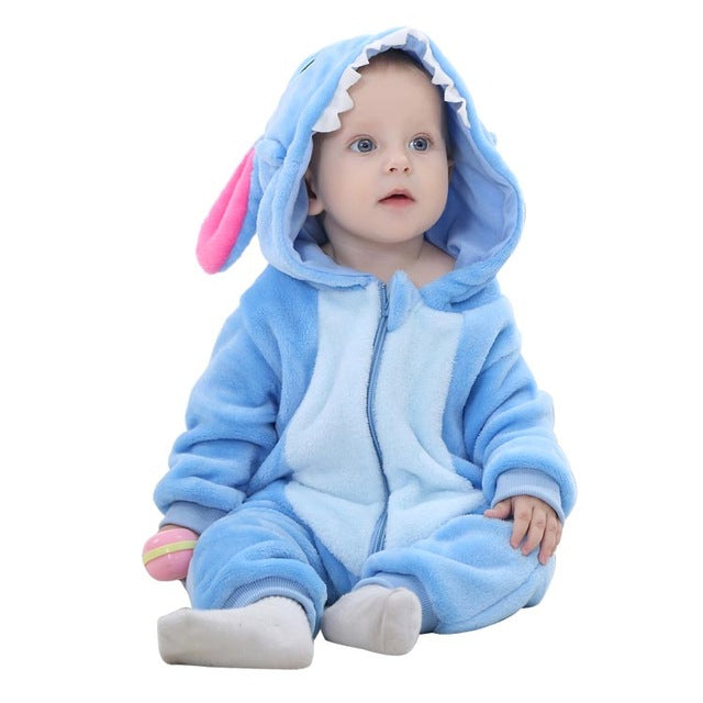 MICHLEY Spring Autumn Baby Boys Cartoon Animal Jumpsuits - MyBabyNMore
