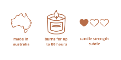 australian made scented candle 80 hours burn time