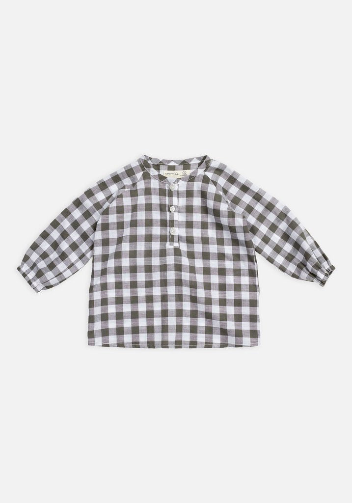 Raglan Long Sleeve Flowy Shirt – Seagrass Gingham - HartCo. Home & Body