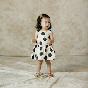 Rylee & Cru - Dots Button Black Dress