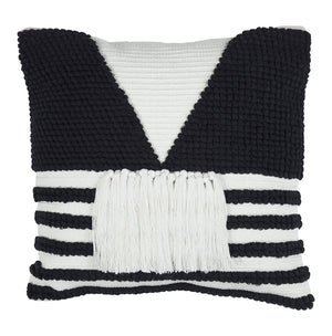 Vivian Cushion Black/White