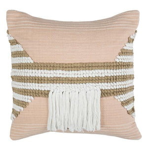 Juliet Cushion Pink and Tan