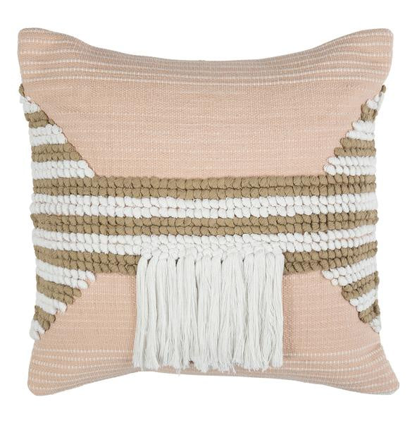 Juliet Cushion Pink and Tan - HartCo. Home & Body