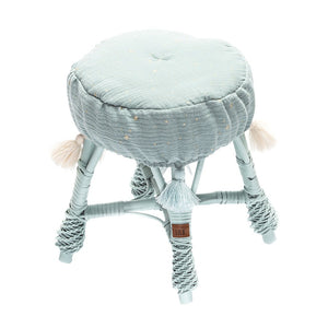 Small Wicker Stool - Dirty Mint - HartCo. Home & Body