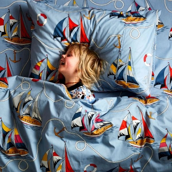 Hey Sailor Cotton Single Flat Sheet