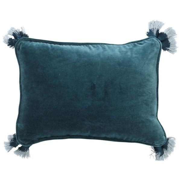 GREEN SEA VELVET SOUK CUSHION