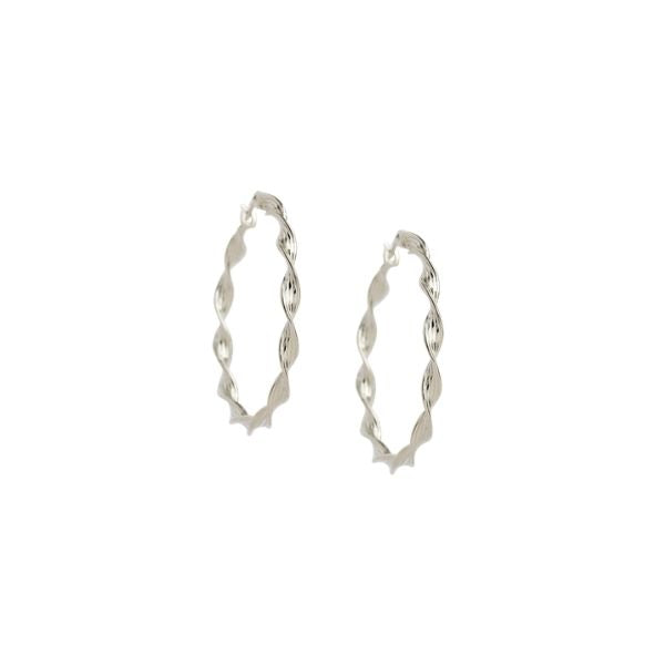 Rope Detail Hoop Earrings