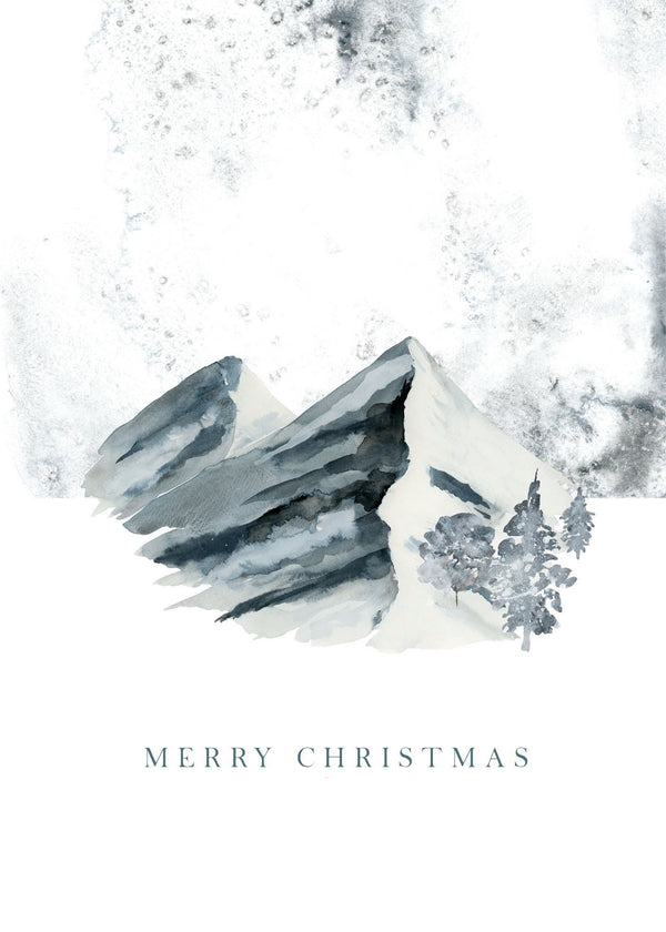 Christmas Card - Merry Christmas Snow Scene