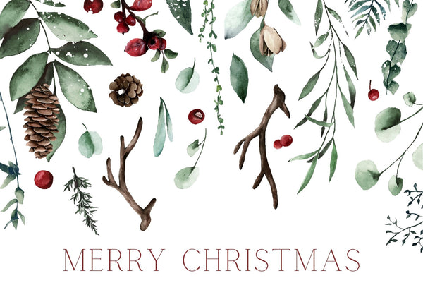 Christmas Card - Merry Christmas Berries
