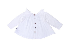 Frida Smock Top White