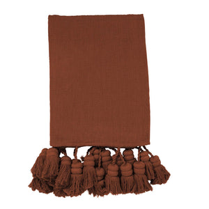 COCONUT HUSK TASSEL THROW - HartCo. Home & Body