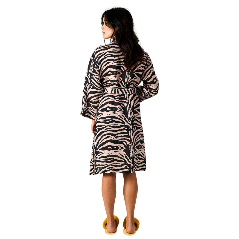 Kip & Co Zebra Crossing Linen Robe - HartCo. Home & Body