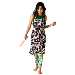 Kip & Co Zebra Crossing Linen Apron - HartCo. Home & Body