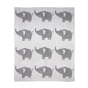 Elephant Knitted Blanket - HartCo. Home & Body