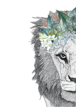 Leo The Lion With Foliage Crown