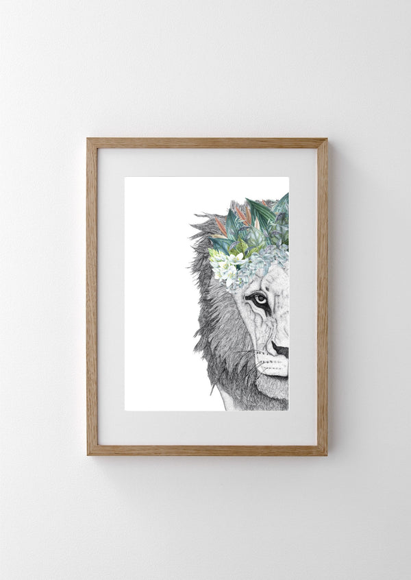 Leo The Lion With Foliage Crown - HartCo. Home & Body