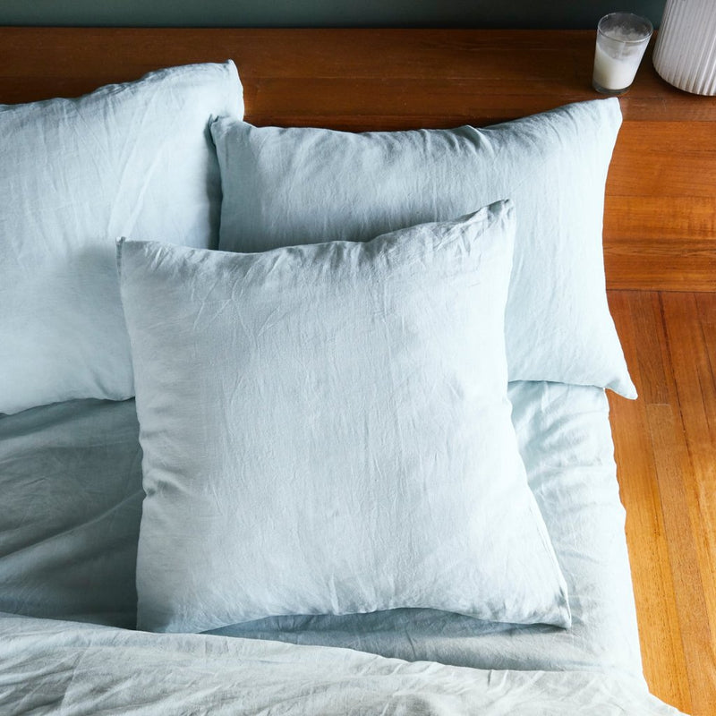 Linen Euro Pillowcase Set - Moonlight