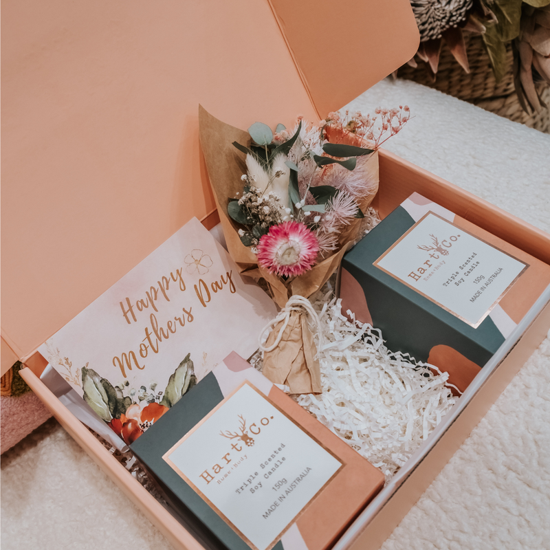Mother's Day Gift Box (Candles & Floral bouquet)
