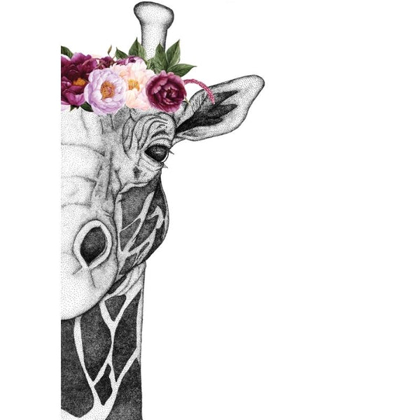 Georgi The Giraffe With Flower Crown - Pink