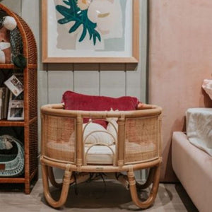 The Ohana - Mini - Rattan Dolls Bassinet