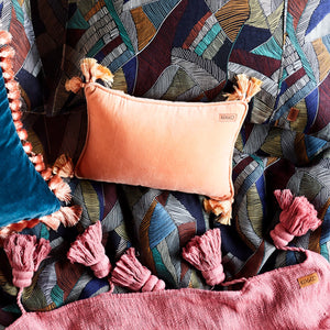 Apricot Velvet Souk Cushion