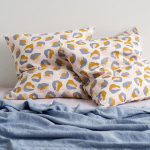 Frankie Linen Euro Pillow Case Set