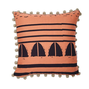 Trimmed Salmon Friday Cushion - HartCo. Home & Body