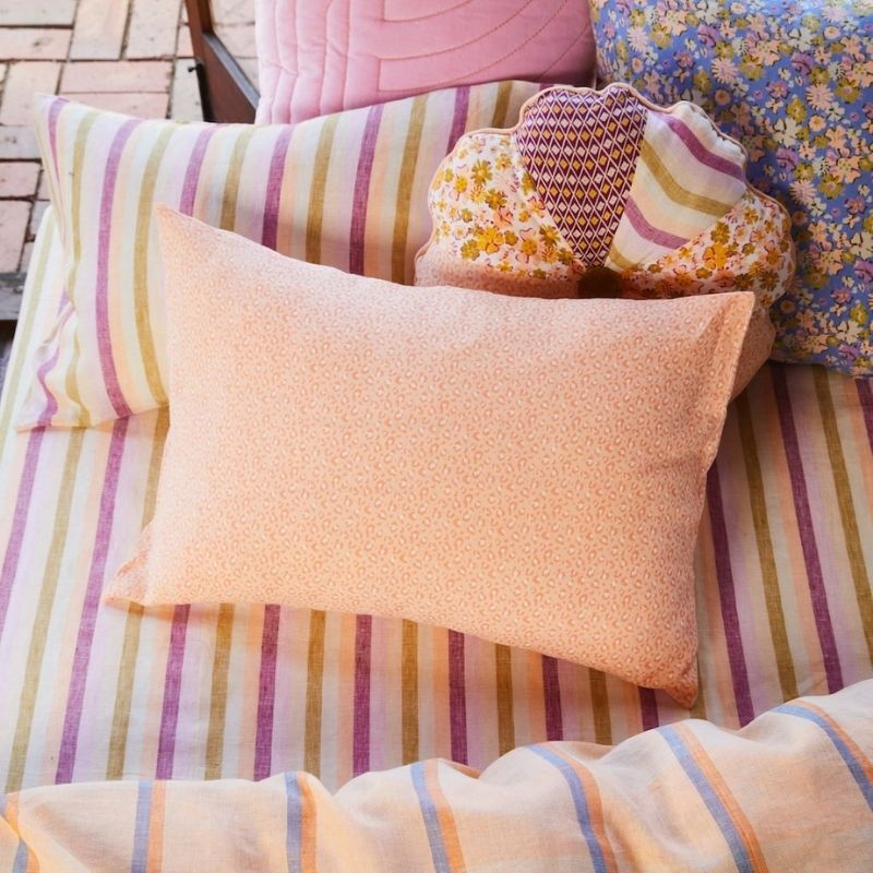 Ajo Linen Pillowcase Set- Melon