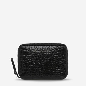WAYWARD WALLET-BLACK CROC EMBOSS - HartCo. Home & Body