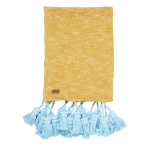 Sea Glow Tassel Throw