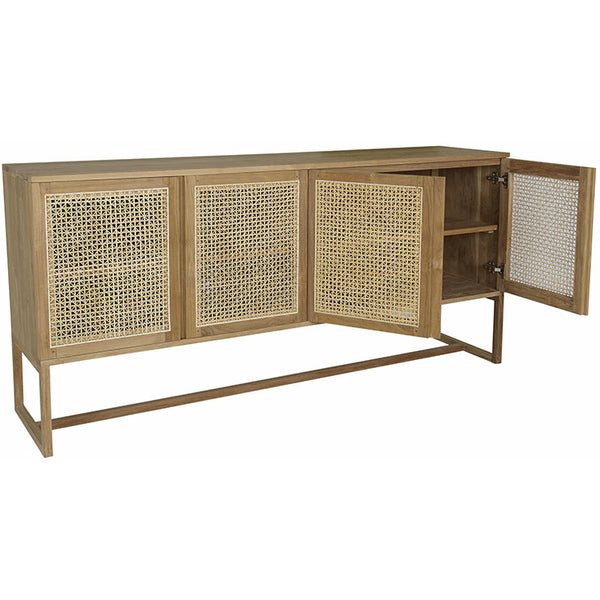 Willow Woven Buffet - Teak - HartCo. Home & Body
