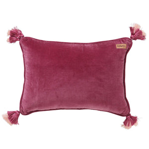 Peony Rose Pink Velvet Souk Cushion - HartCo. Home & Body