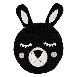 Black Bunny Snuggle Cushion - HartCo. Home & Body