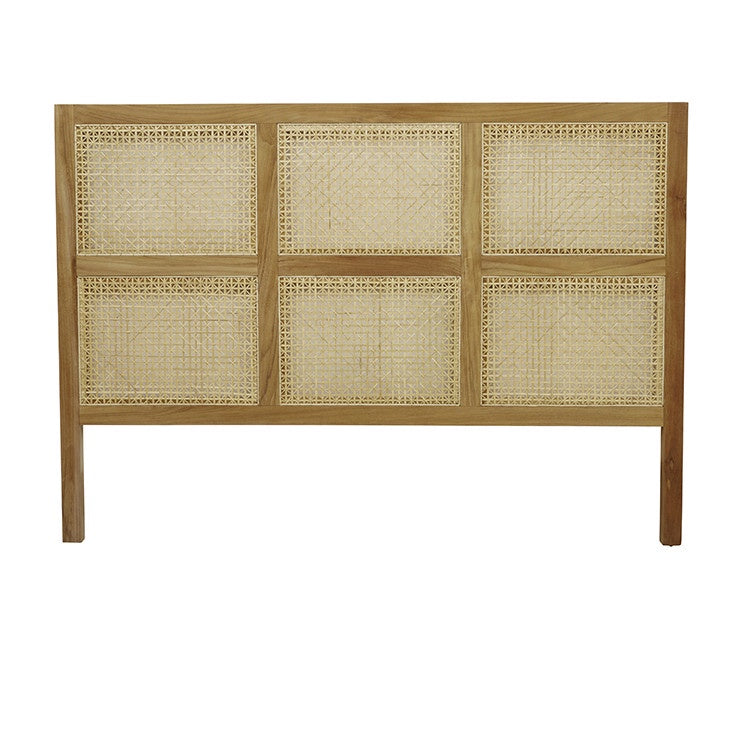 Willow Woven Bedhead Teak - Queen - HartCo. Home & Body