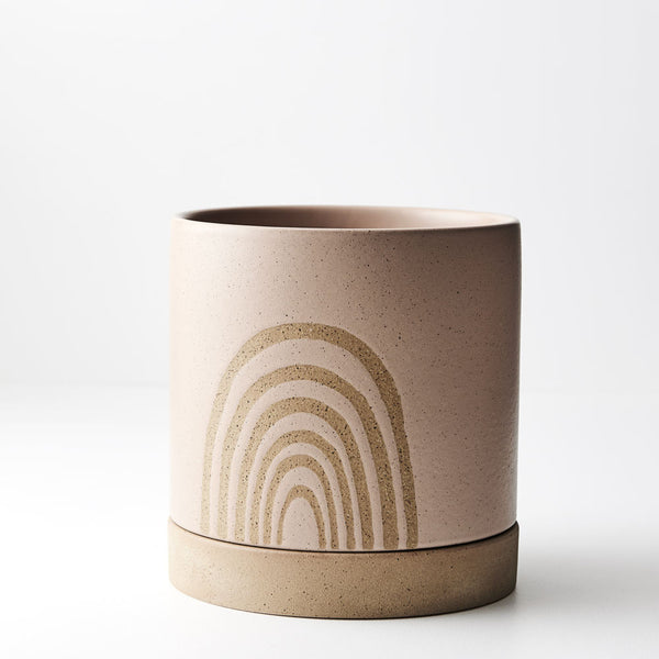 Pot Cassia w/saucer - BLUSH