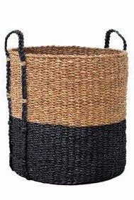 Wicker Washing Basket - Black