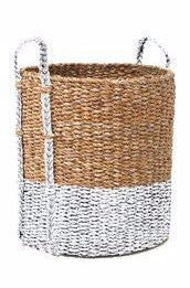 Wicker Washing Basket - White - HartCo. Home & Body