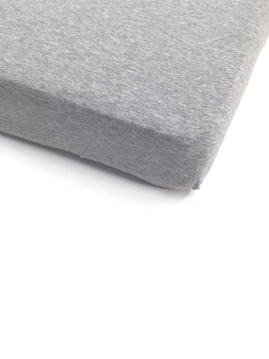 Grey Marle Jersey Cot Sheet