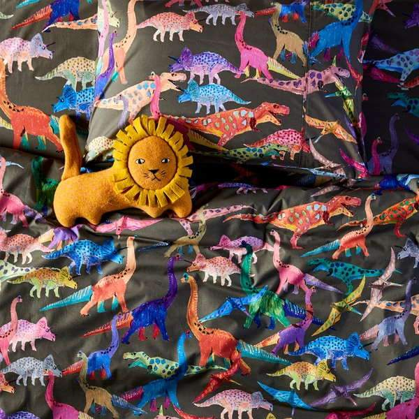 Dino Earth Cotton Quilt Cover