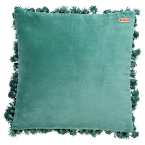 EUCALYPT VELVET TASSEL CUSHION COVER