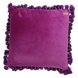 GRAPE SKIN PURPLE VELVET TASSEL CUSHION COVER