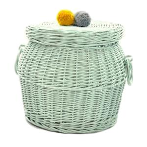Large Wicker Hamper - Dirty Mint - HartCo. Home & Body