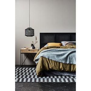 Willow Woven Bedhead Teak - Queen