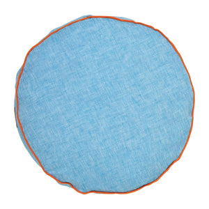 Neon Blue Linen Pea Cushion
