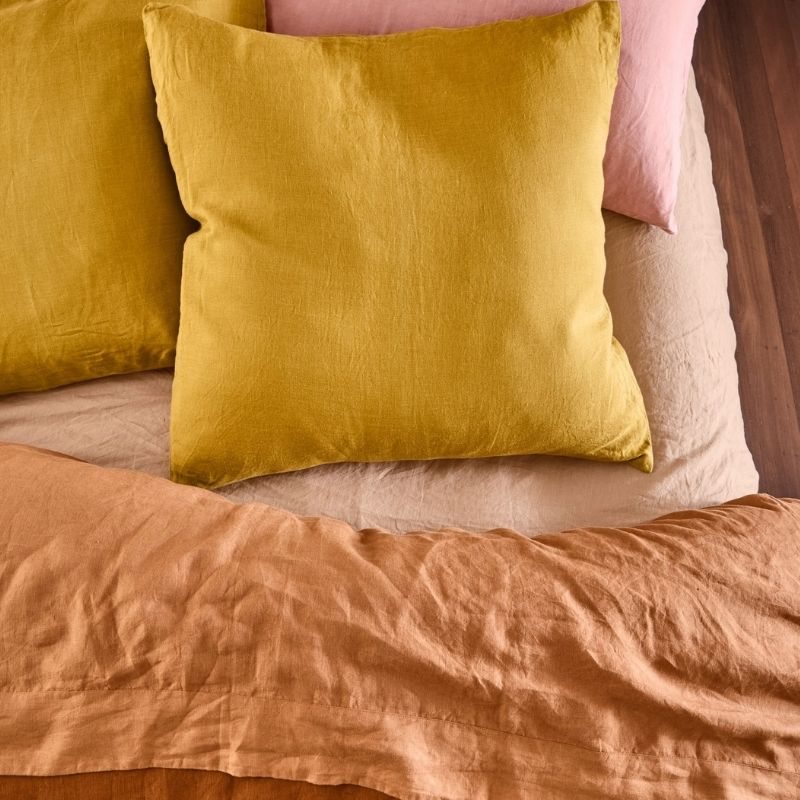 LINEN EURO PILLOWCASE SET- SUNDANCE