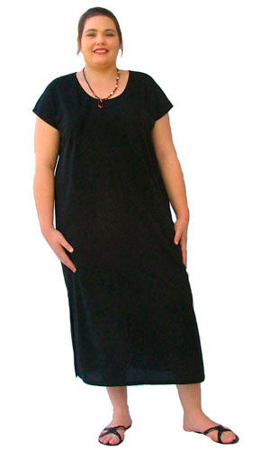 SELINA LONG DRESS CAP SLEEVE STYLE (COTTON KNIT) - ST 33C.CC