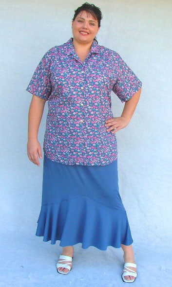 TANIA LONG SKIRT CIRCULAR PANEL TO HEM WITH POCKETS (PLAIN JERSEY) – ST 54JER