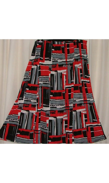 6 PANEL GORED LONG FLARED SKIRT WITH POCKETS (PRINTED JERSEY) – ST 56JPR