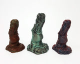 Three of the Mermaid fantasy adult toy designs facing backwards from Lust Arts in each of the original colors